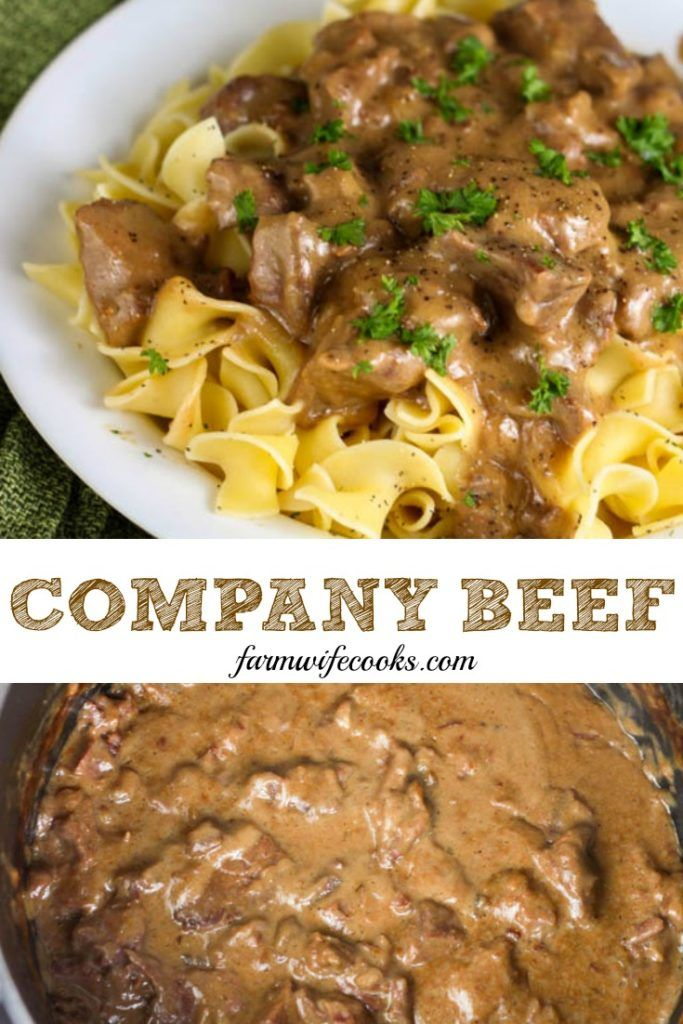Photo of Company Beef Using Stew Meat