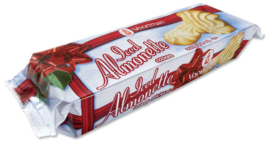 Christmas Iced Almonette Cookies - Voortman Cookies | Christmas ...