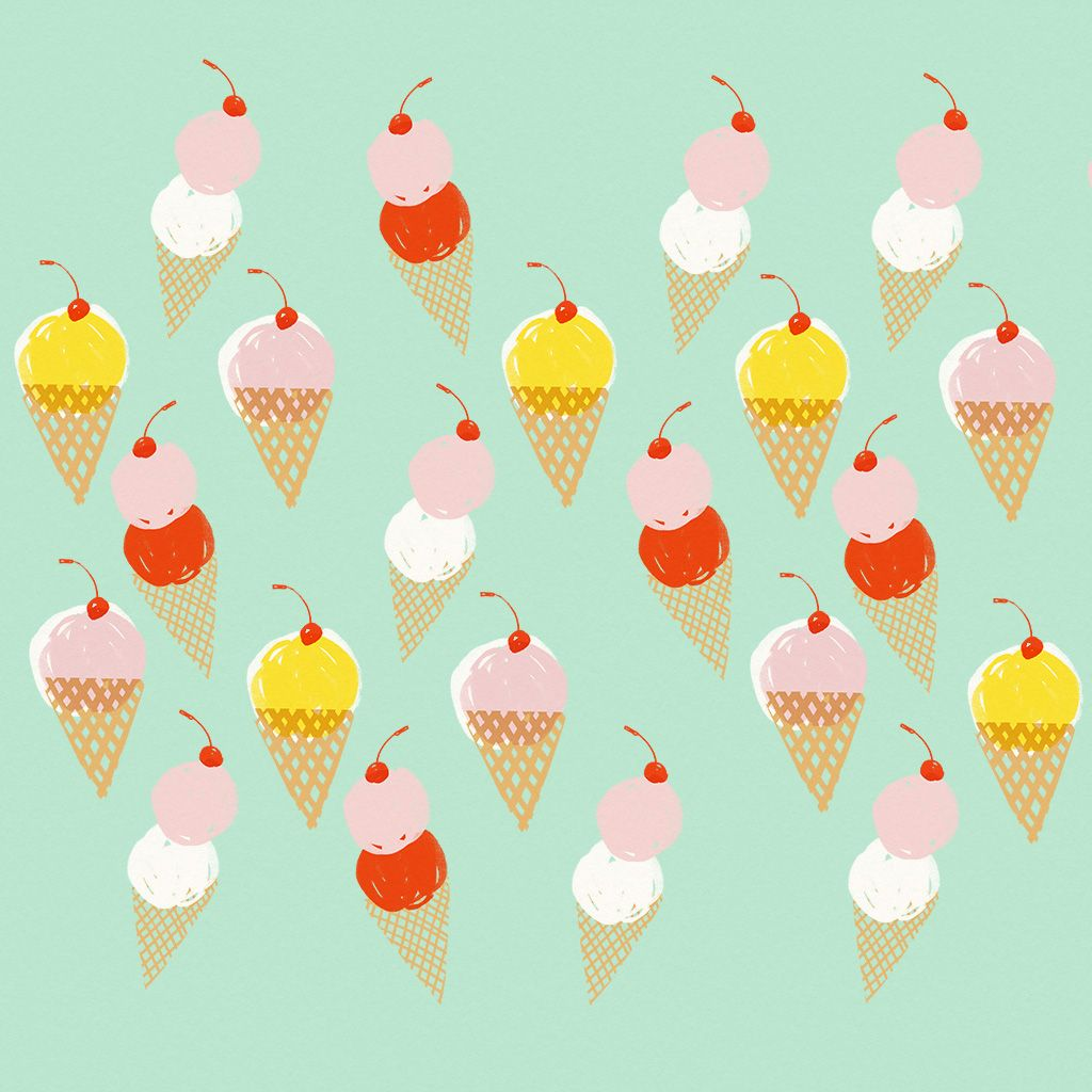 Ice Cream Wide Wallpapers Free: Ice Cream Pattern IPad Wallpaper By Amy Van Luijk For