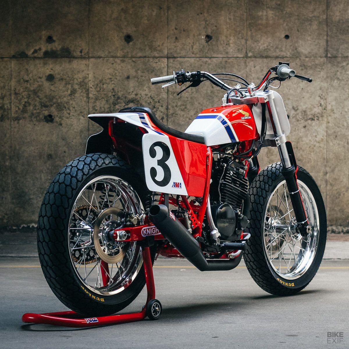 Dust Kicker! Justin Steyn's Honda RS600 flat track bike