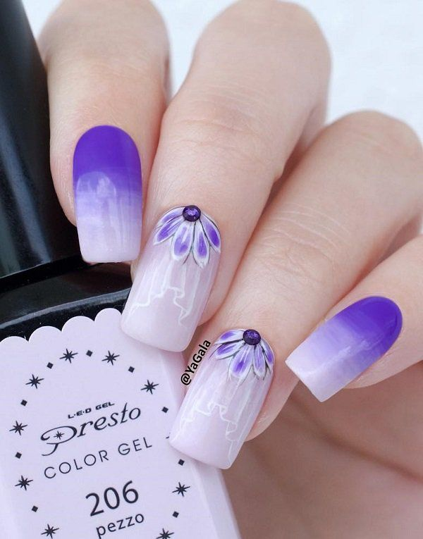 70 Square Nail Art Ideas | Pinterest | Ombre, Square nails and ...