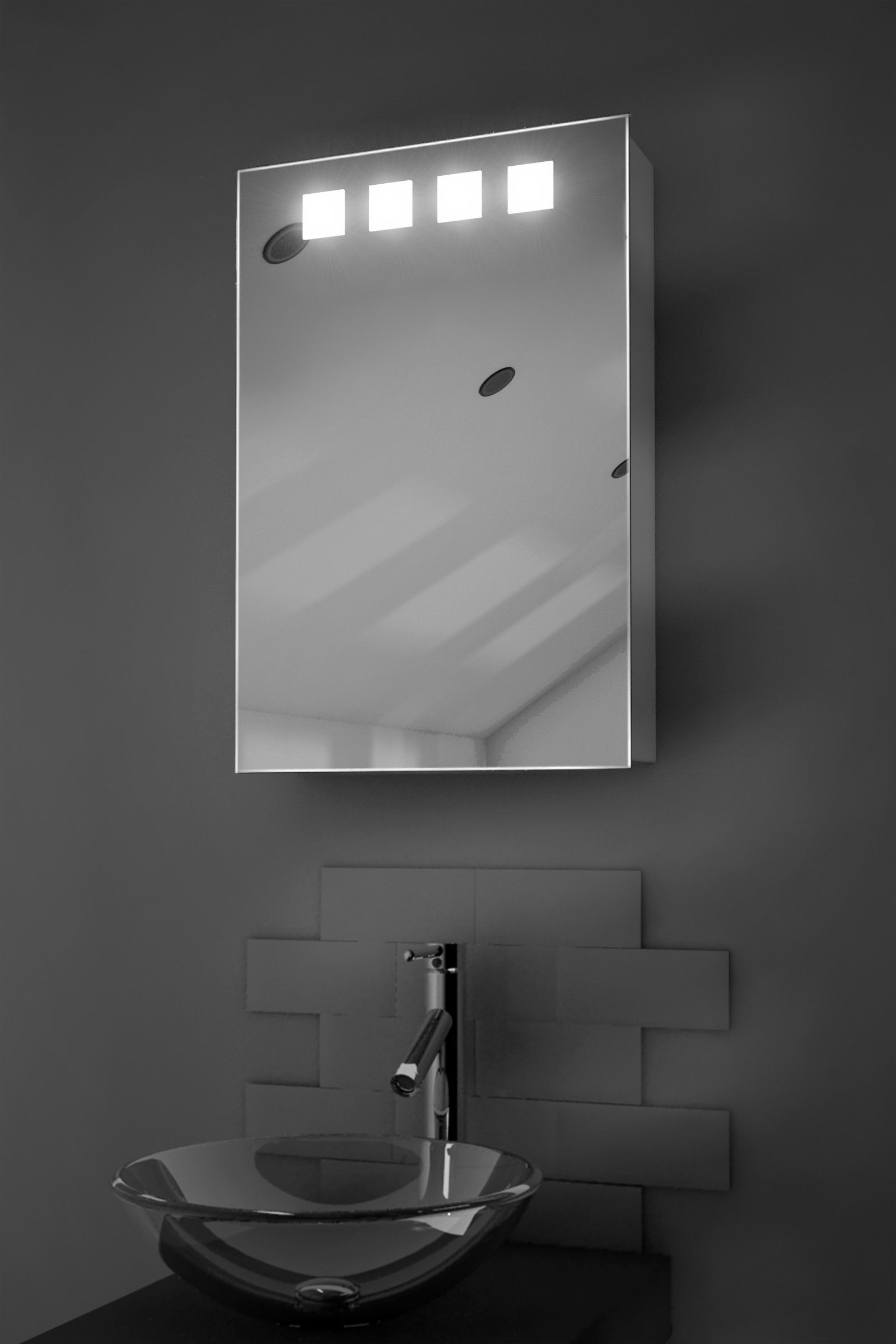 Bathroom Mirrors With Tv Built In Nova Led Cabinet H600mm X W400mm X D140mm