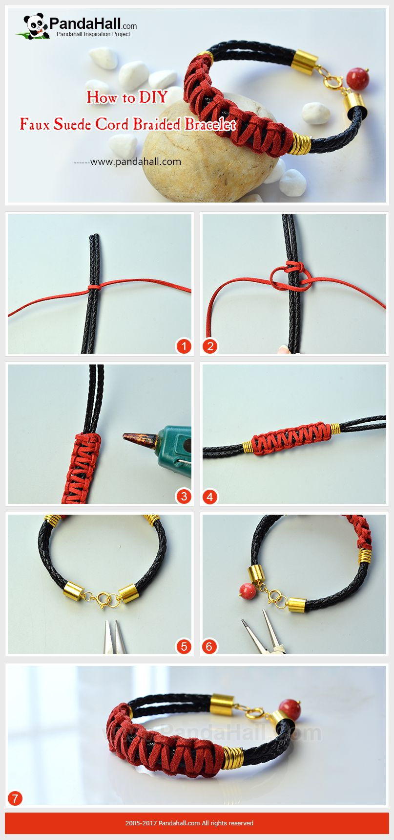 How To Diy Faux Suede Cord Braided Bracelet The Bracelet Is