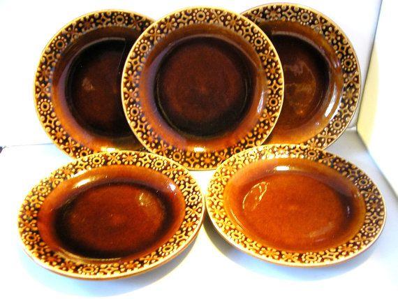 Vintage Kilrush Ceramics Ltd side plates 5 golden brown Celtic design West Coast of Ireland afternoon  sc 1 st  Pinterest & Vintage Kilrush Ceramics Ltd side plates 5 golden brown Celtic ...