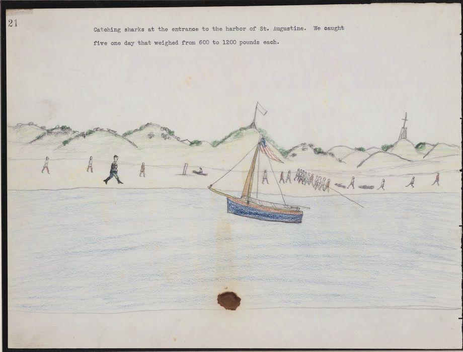 Amazing drawings by Etahdleuh Doanmoe: The Kiowa warrior's sketchbook chronicled his captivity ca 1875.
