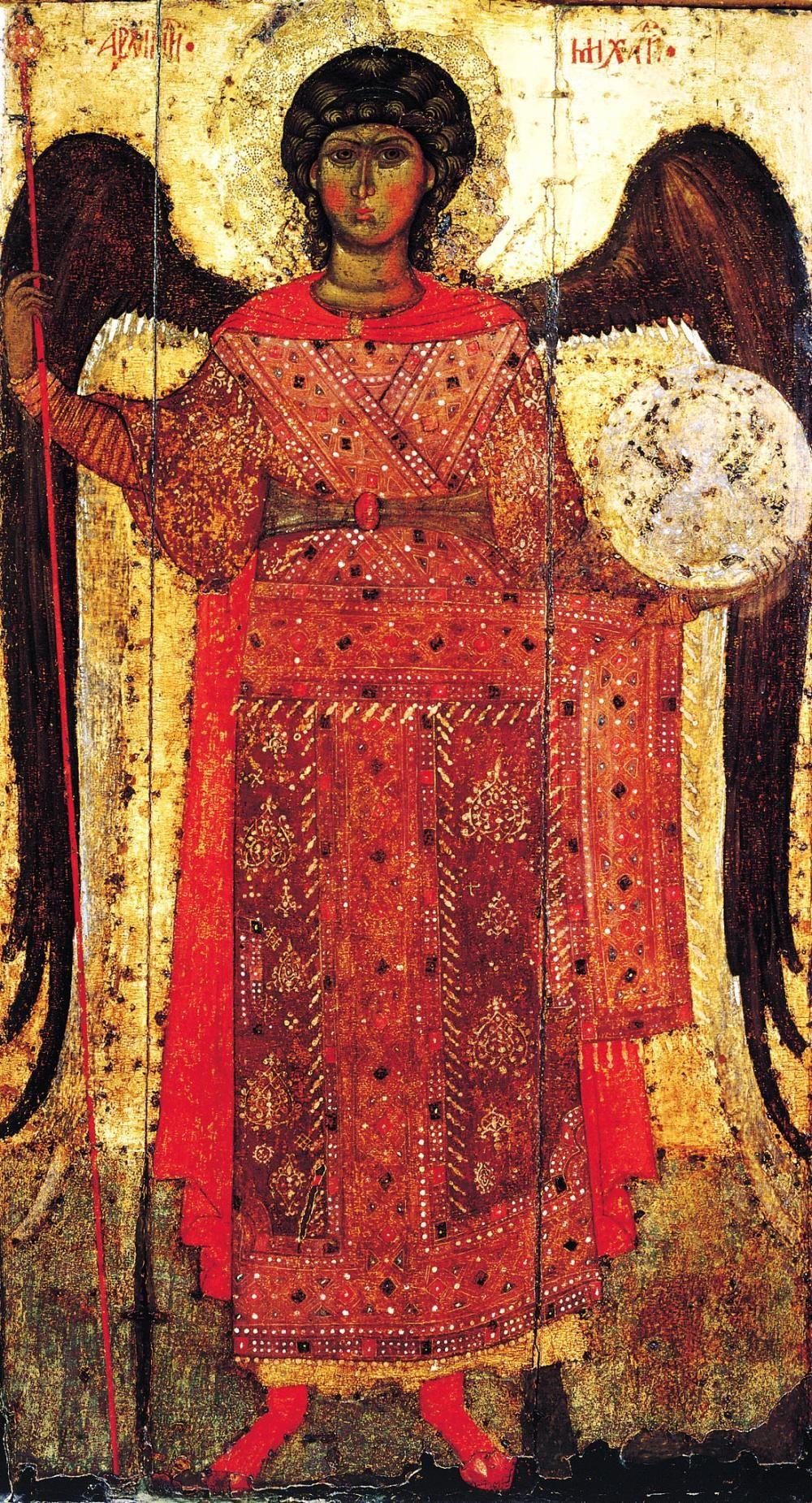 Icon of Archangel Michael (detail), Yaroslavl, 1216
