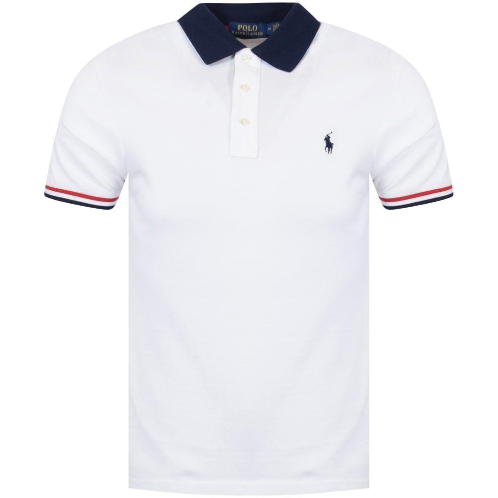 Polo Ralph Lauren Polo Ralph Lauren Whitenavy Contrast Polo Shirt