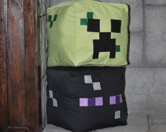 Do it yourself minecraft inspired creeper and enderman pillow do it yourself minecraft inspired creeper and enderman pillow instructions pattern bedroom decor solutioingenieria Images