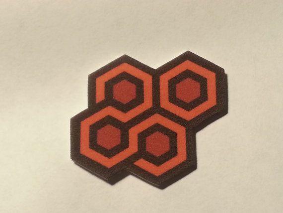 Overlook Hotel Carpet Sample Pin The Shining Orange Hexi Hall