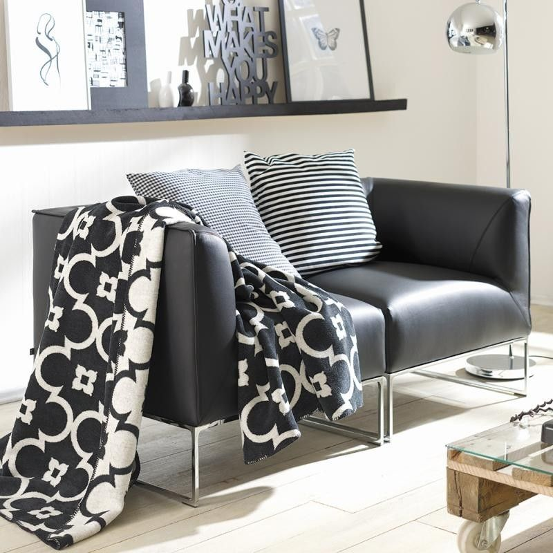 Swell Black And White Designer Blanket Throw 150X200Cms For Machost Co Dining Chair Design Ideas Machostcouk