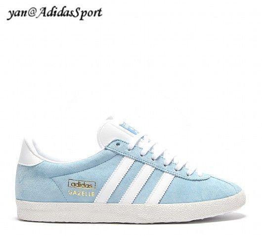 97a60ee926f77 Basketball men Adidas Originals Gazelle OG Argentina  blue white Bluebird gold metallic HOT SALE! HOT PRICE!