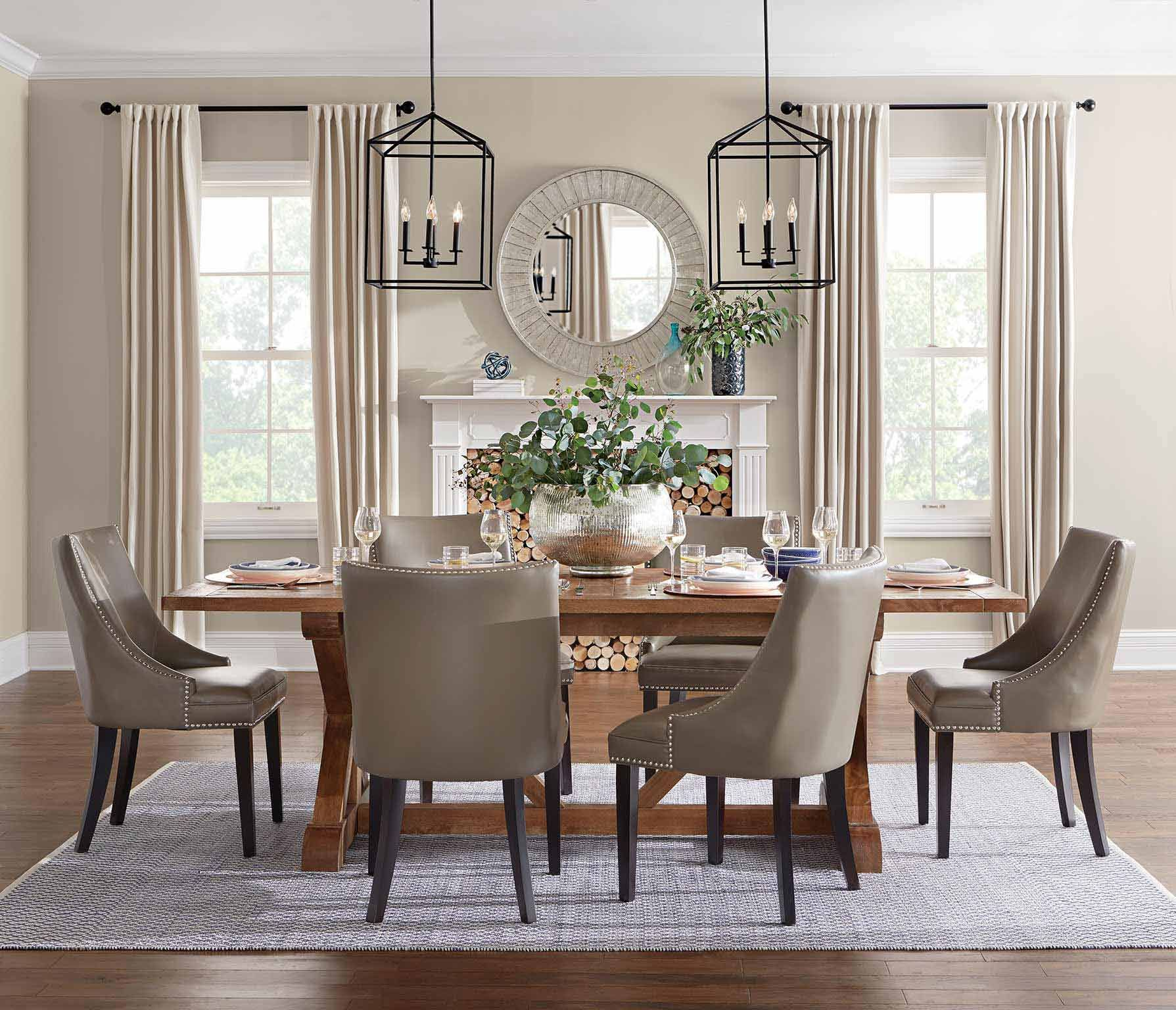 Living Room And Dining Room Together: The Natural Classic Dining Room Is Characterized By