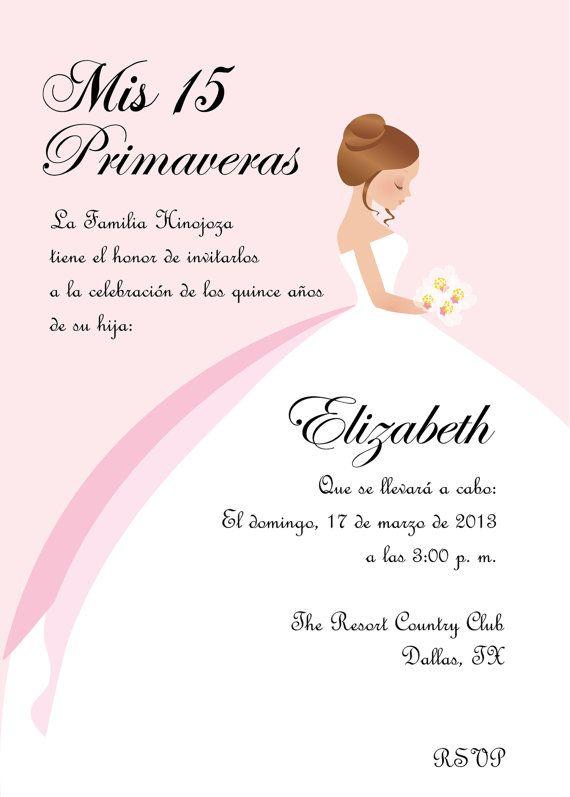Diy Princess Sweet 16 Quinceanera Invitation By Cecydesigns