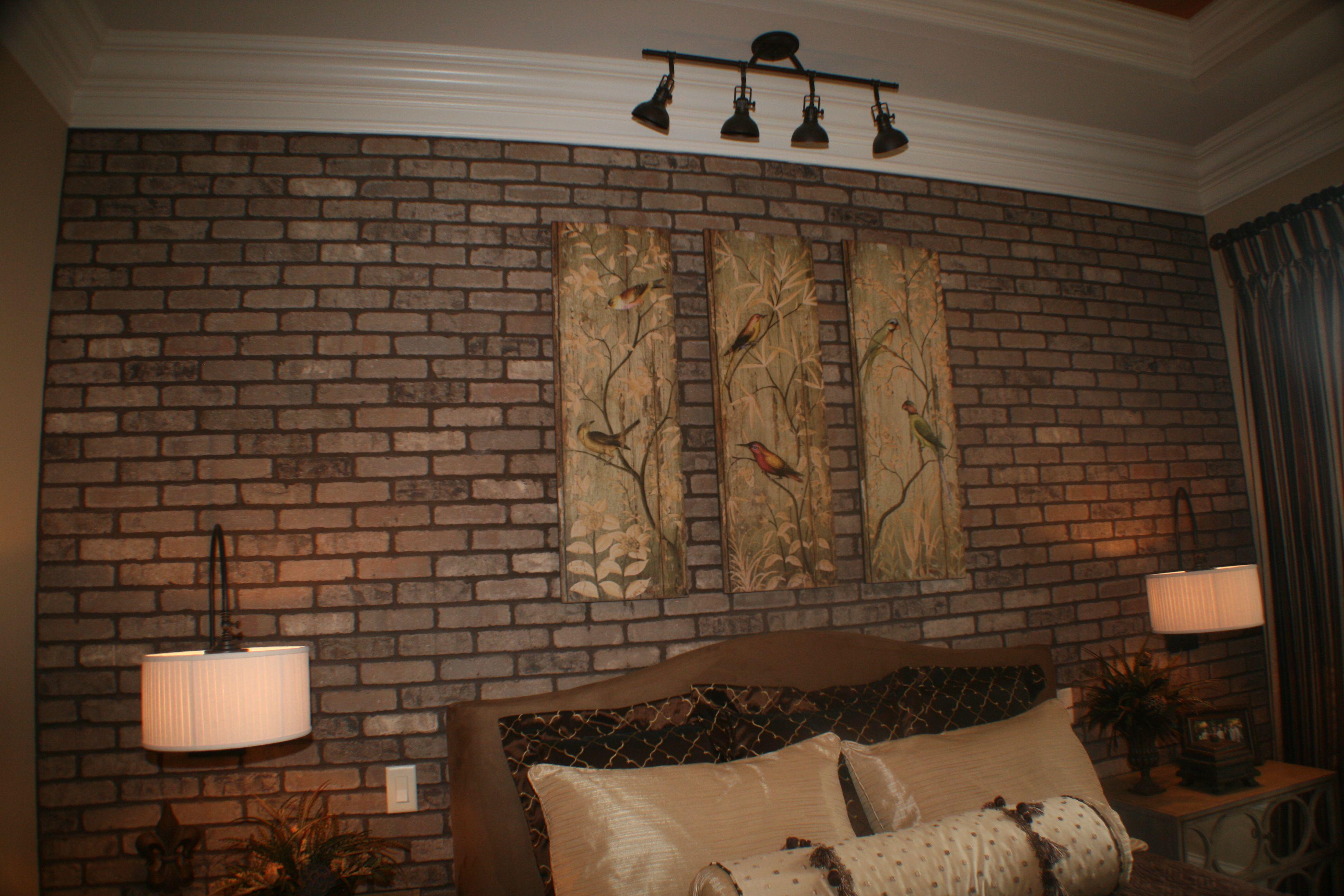 brick wall along back wall of master bedroom interior ideas bedroom rh pinterest de