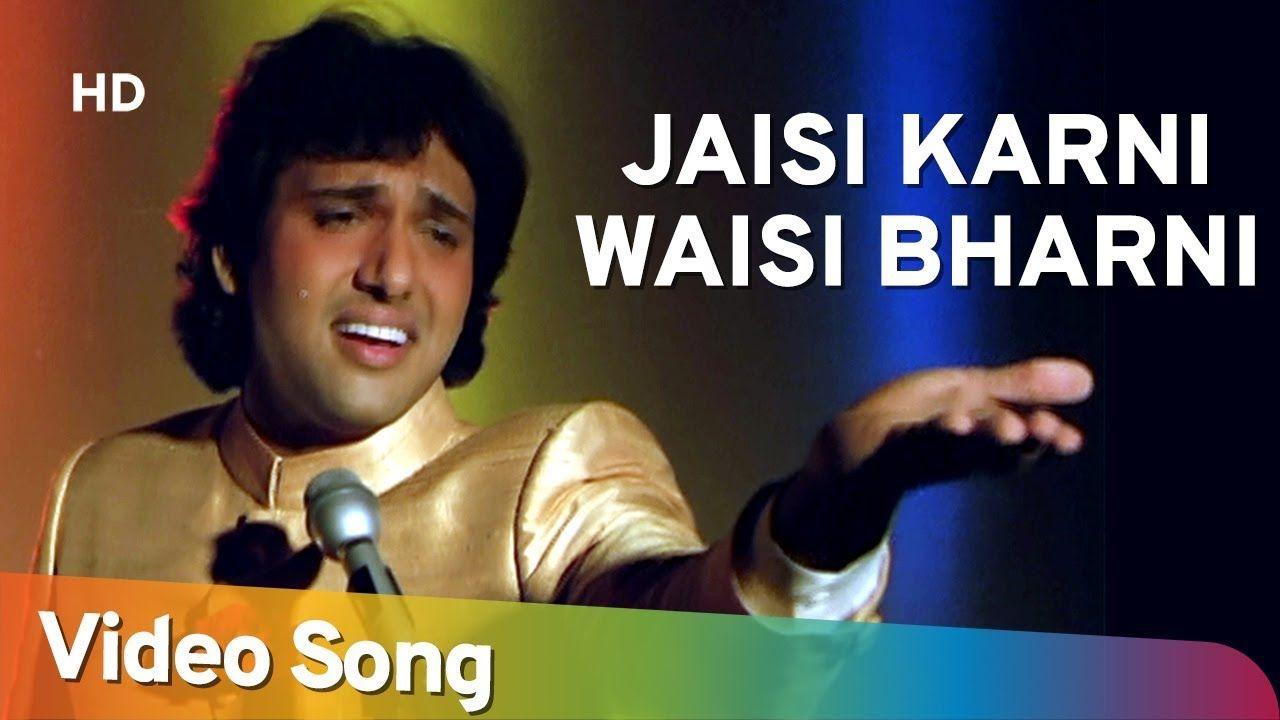 Jaisi Karni Waisi Bharni Title Song Hd Govinda Kimi Katkar Nitin Songs Music Playlist Music Director