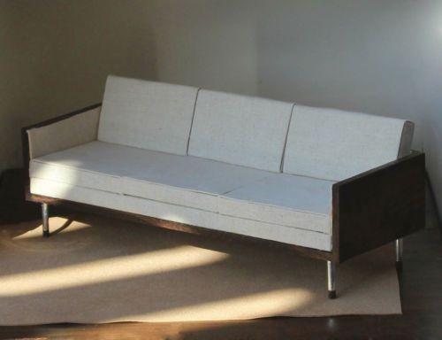 sofa white mahogany 1 6 scale furniture mad men draper style barbie diarama ebay - Mad Men Sofa