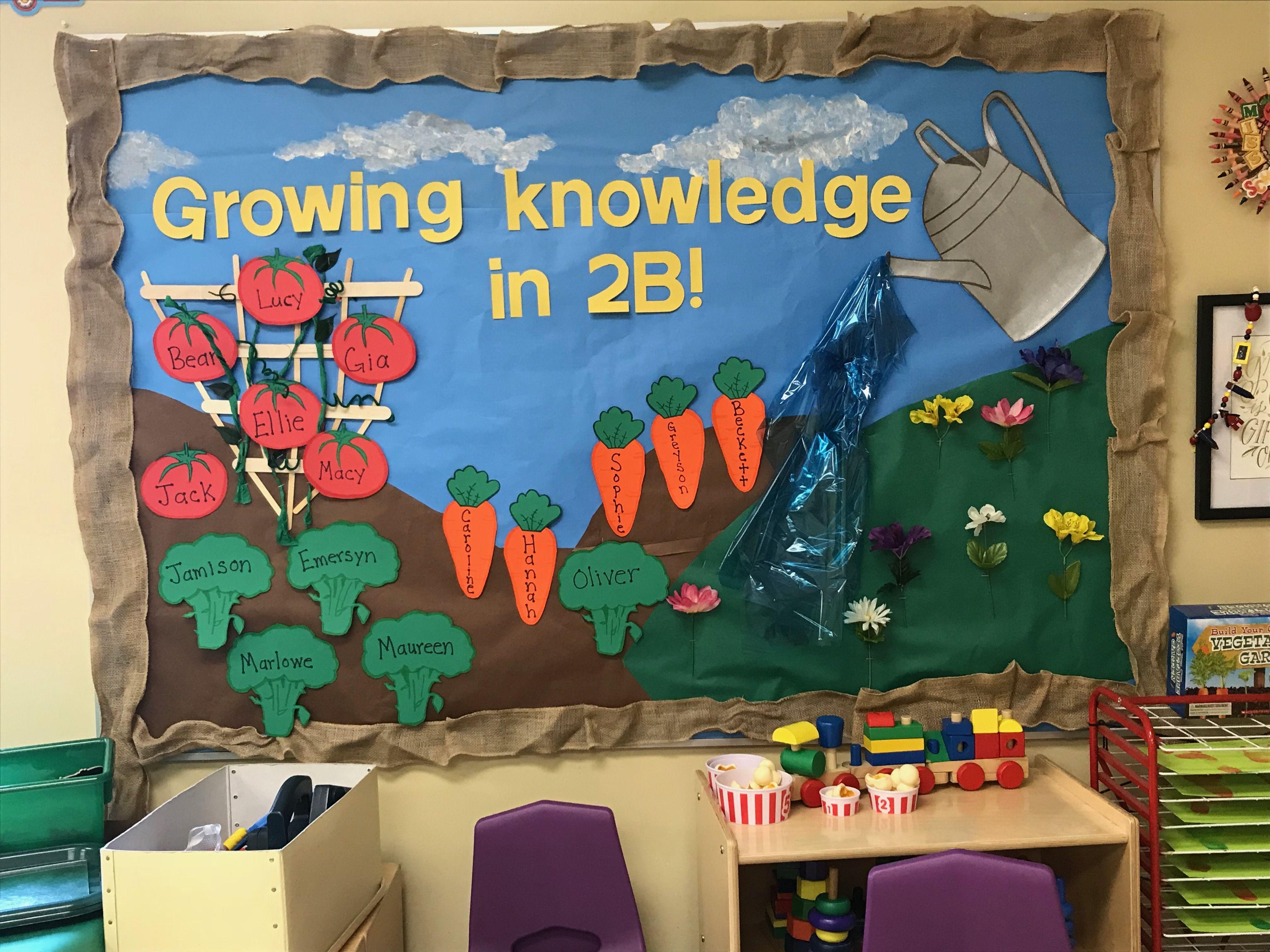 gardening bulletin board for summer knowledge grows here rh pinterest com