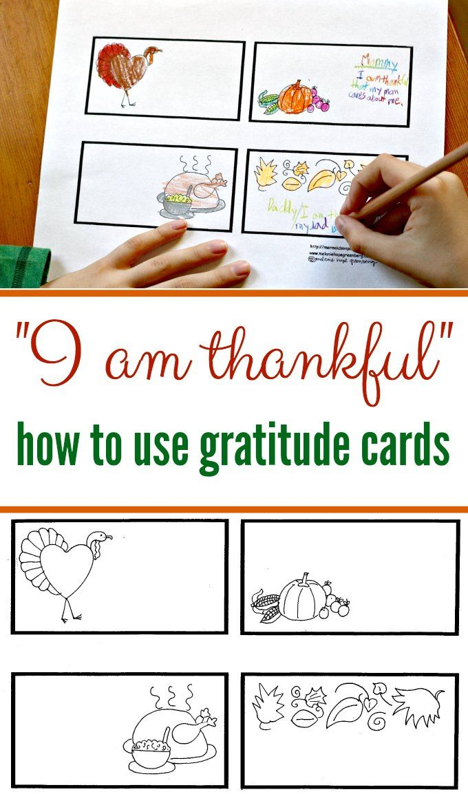 Thankful Cards for Kids to Color | Dar gracias y Gracias