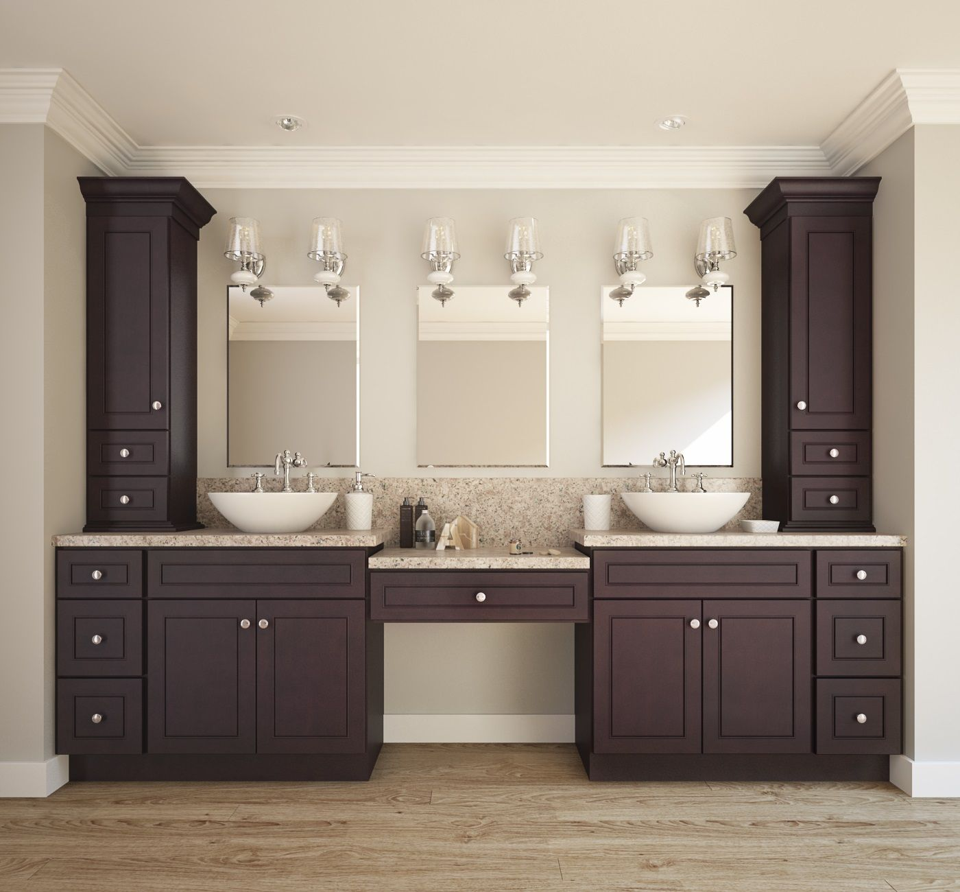 Espresso bean bathroom vanity rta bathroom vanities in