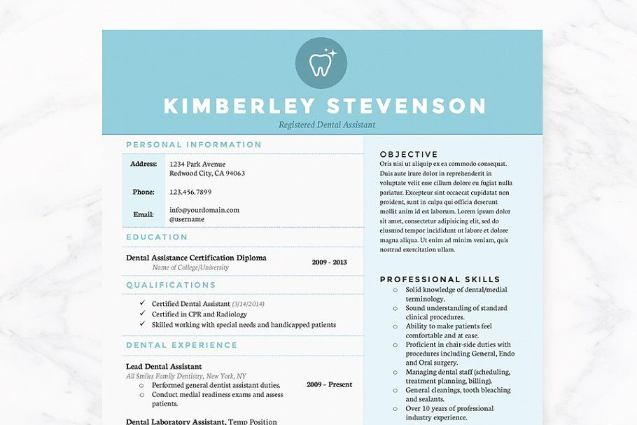 Crisp Blue Resume Template Pkg. #Resume#Blue#Crisp#Templates ...