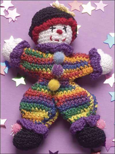 POSTED - Crochet - Tiny the Clown - Crochet Cotton Size 10 Thread ...