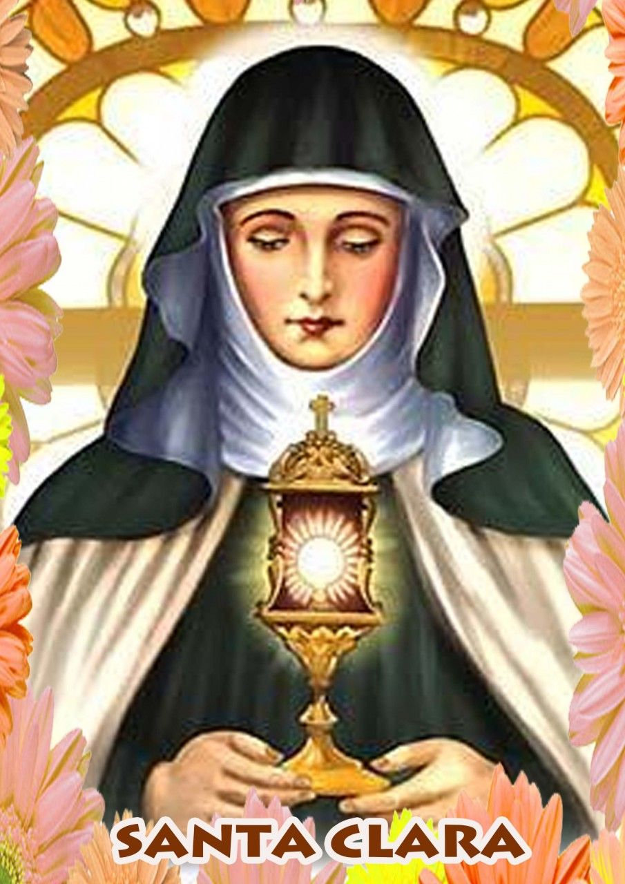Santa Clara De Asís Imagenes Religiosas Santa Clara De Asis