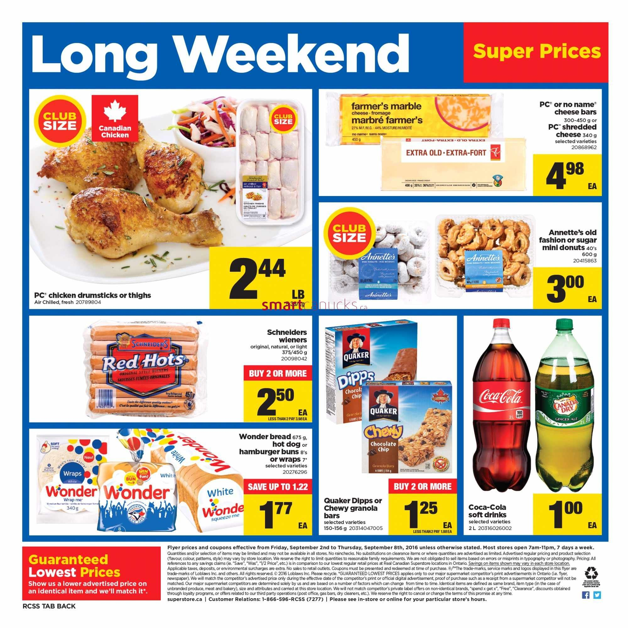 Real Canadian Superstore On Flyer September 2 To 8 Basic