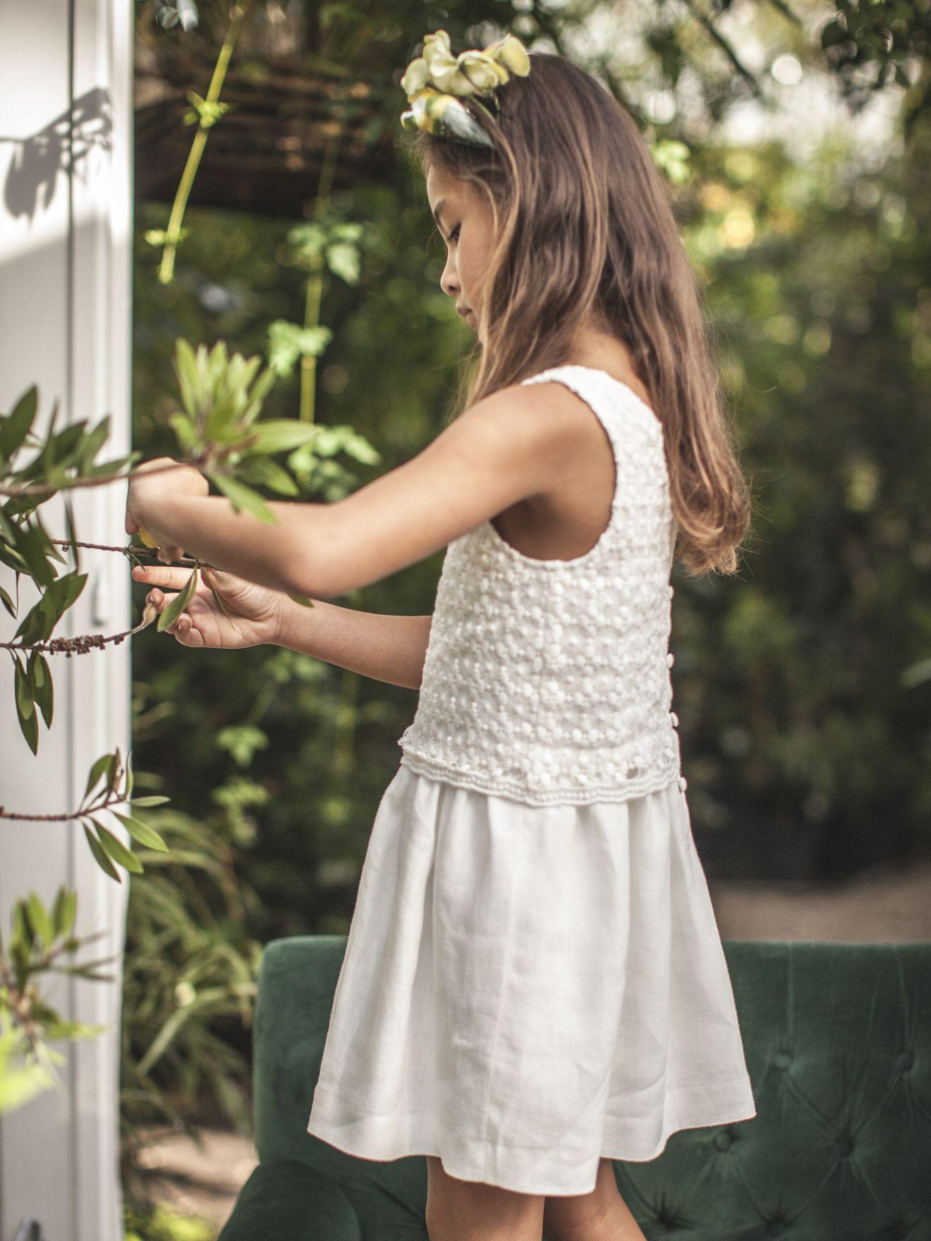 Gap robe blanche fille