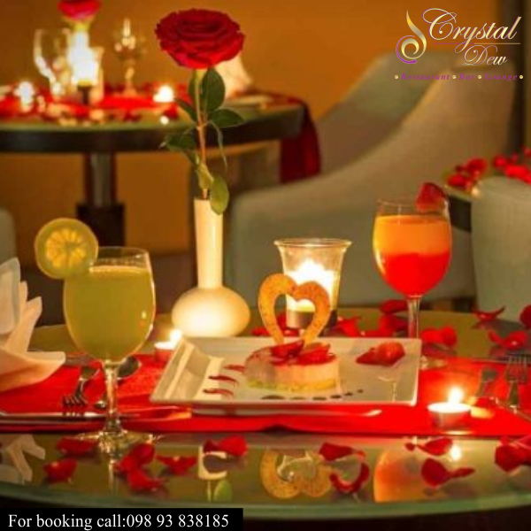 Love date romantic candlelight dinner food mocktail for Valentines day ideas for hotels