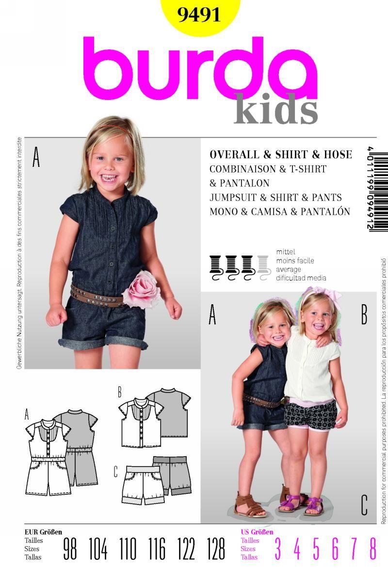 Burda Kids 9491 | Patterns I Need | Pinterest