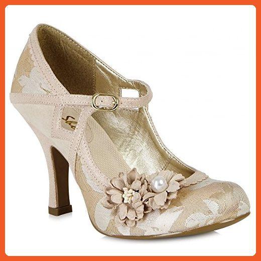 Ruby Shoo Yasmin Rose Gold Womens Hi Heels Shoes-4 - Pumps for women  ( Amazon Partner-Link) 484569a0a0