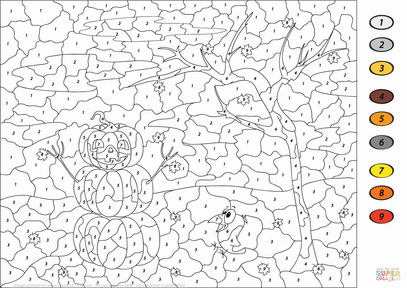 Halloween Coloring By Number Worksheets Dragon Coloring Blog In 2020 Malen Nach Zahlen Kostenlose Ausmalbilder Ausmalblatt