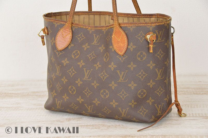 09ac63ed1788 Louis Vuitton Monogram Neverfull PM Tote Shoulder Bag M40155
