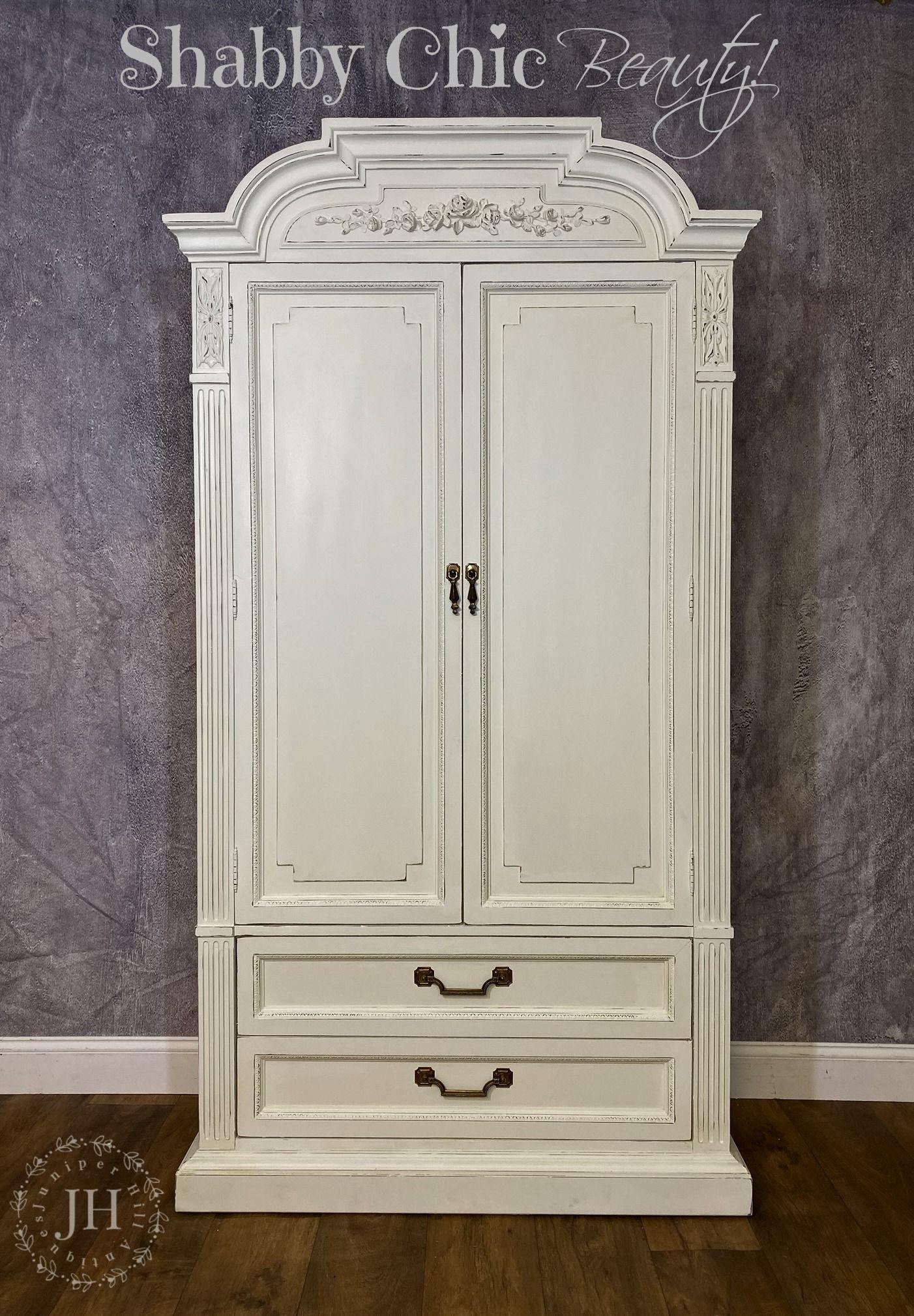 Armoire, Romantic Chic White Chalk Paint, Rose ...