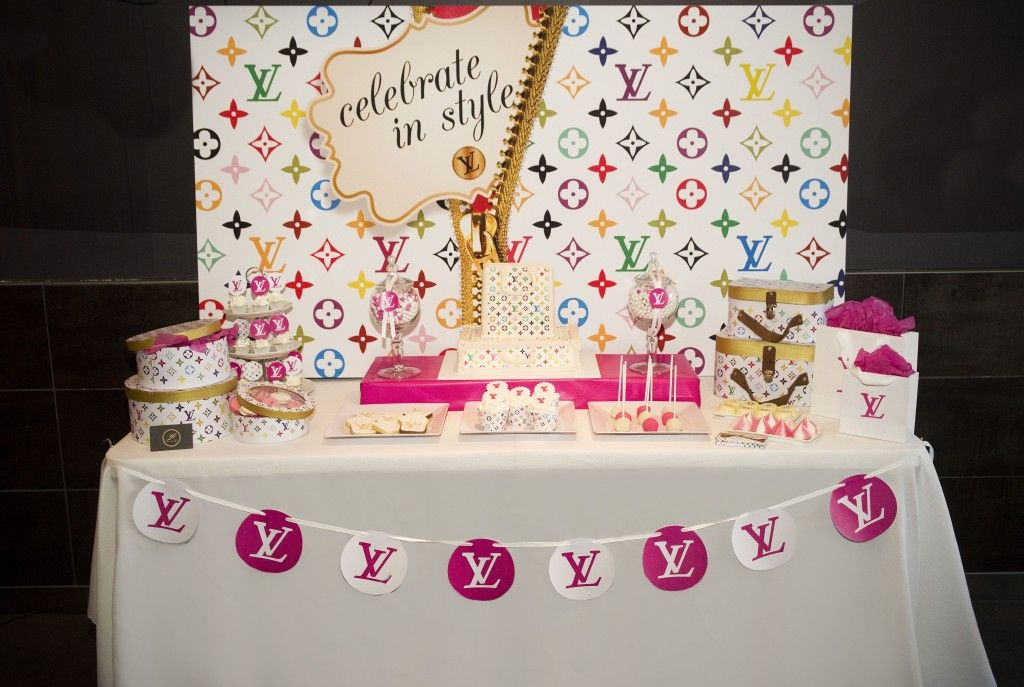 LOUIS VUITTON THEMED PARTY LV-THEMED-CAKE