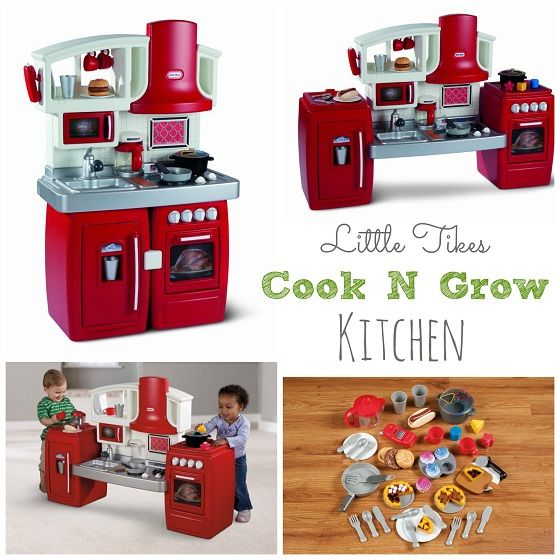 Save $40.00 on Little Tykes Cook N Grow Kitchen! This play kitchen is AWESOME!  Not only does it actually come with lots of play food, it can be configured in 2 ways, to grow up with your kids!