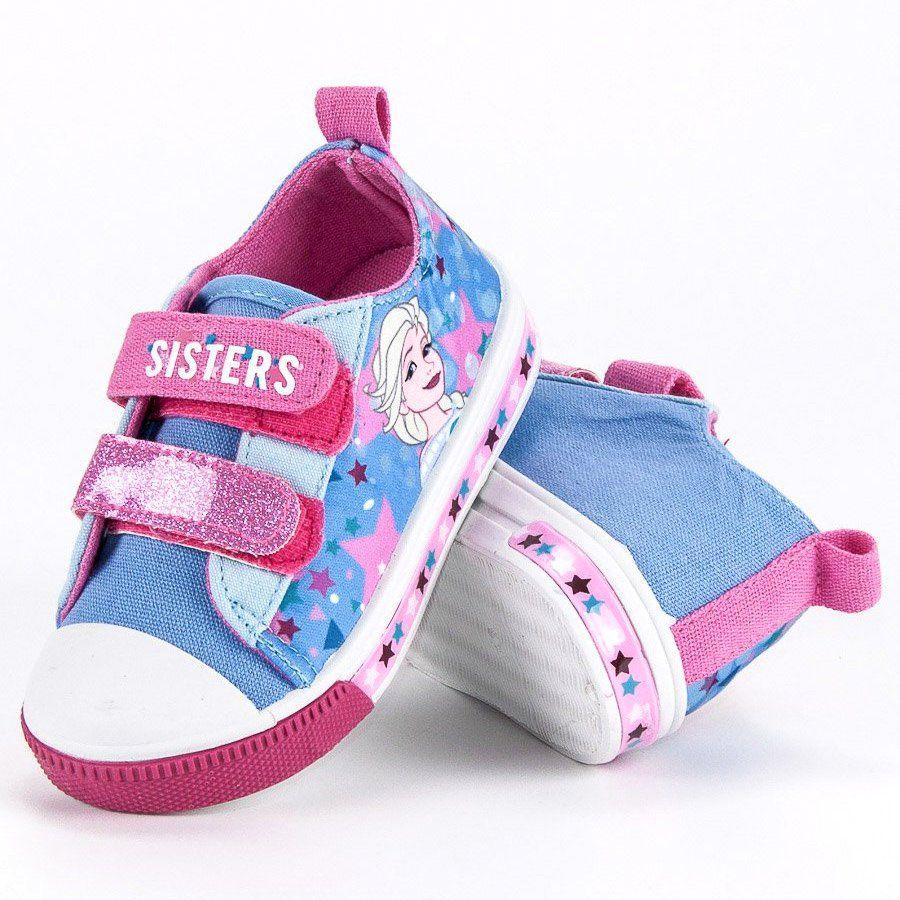 Trampki Dla Dzieci Butymodne Niebieskie Rozowe Trampki Na Rzep Kraina Lodu Butymodne Winter Shoes Baby Shoes Shoes