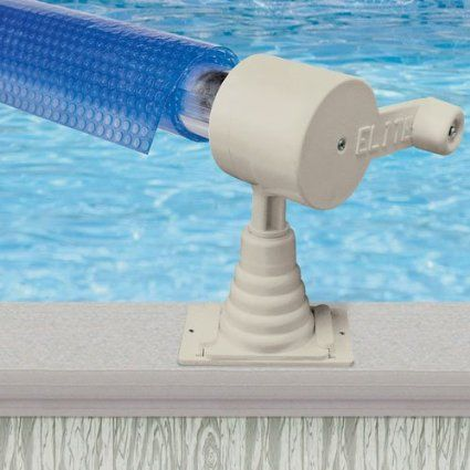 Aqua splash 24ft above ground pool solar cover reel for Above ground pool reel ideas