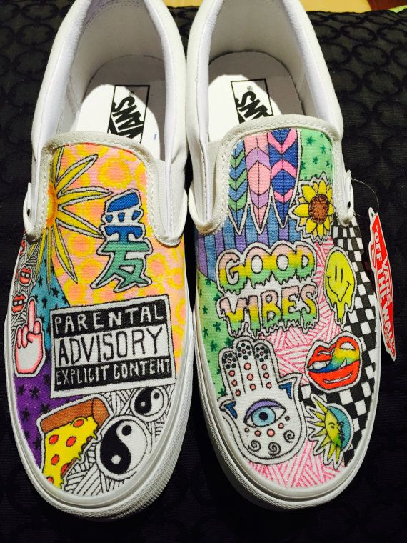 Customized Vans By Linmindesigns On Etsy Com Imagens Sapatos