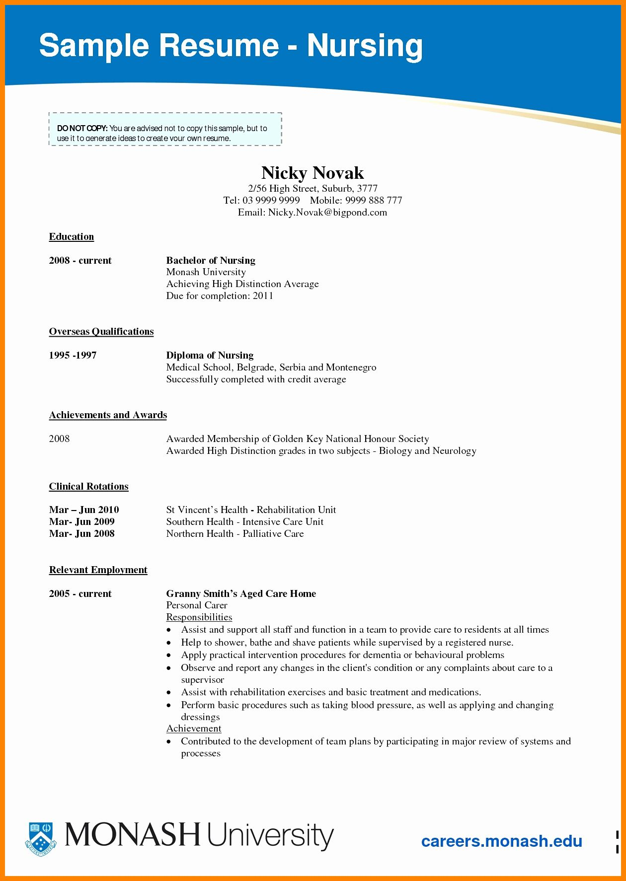Student Nurse Resume Examples Beautiful 9 Cv Nursing