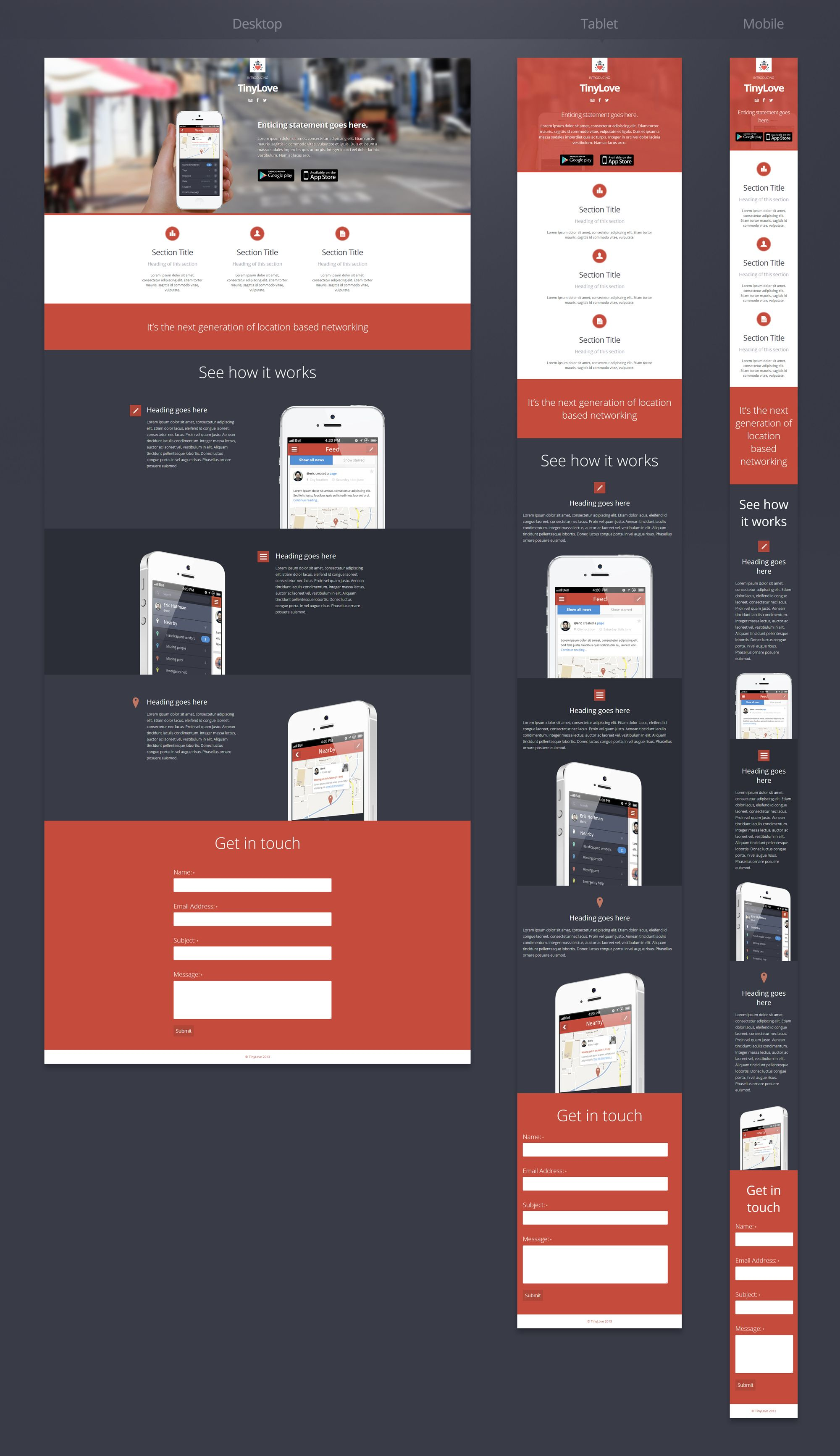 Preview Of A Responsive Website Design Webdesign Responsive Inspiration Creative Web Layout Design Mobile Web Design Web App Design