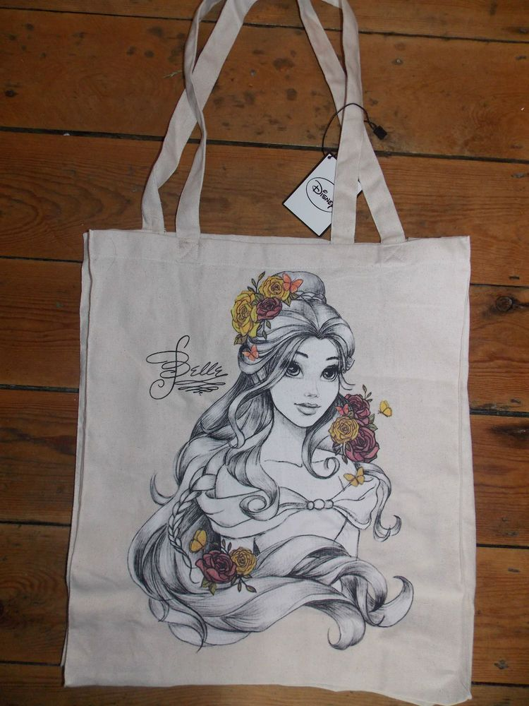 DISNEY BELLE Canvas Tote Shopper Bag Primark in Clothes 929a1b2736a