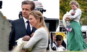 PIC EXCLUSIVE: Renee Zelleeger & Colin Firth joined by Bridget's baby