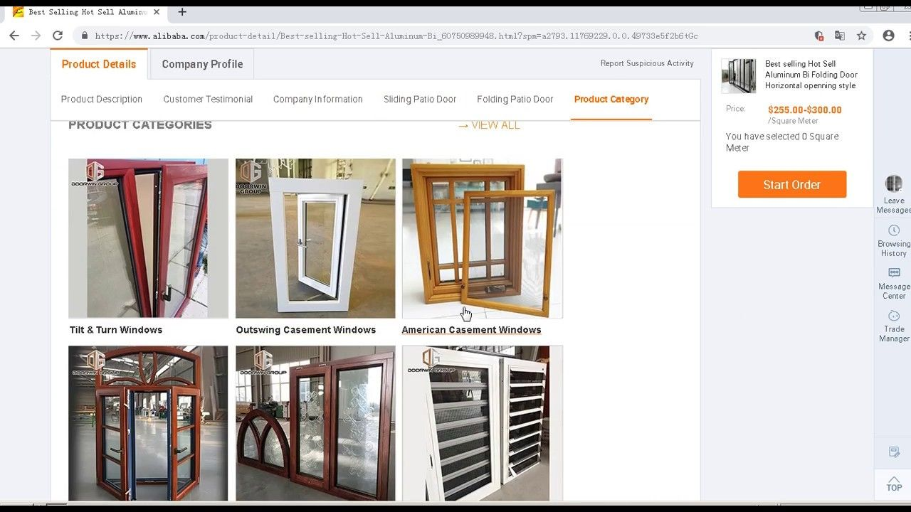 Https Www Alibaba Com Product Detail Best Selling Hot Sell Aluminum Bi 60750989948 Html Spm A2793 117692 With Images Folding Windows Bifold Doors Folding Doors