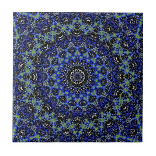 Eastham Kaleidoscope Tile in 2 Sizes from Zazzle
