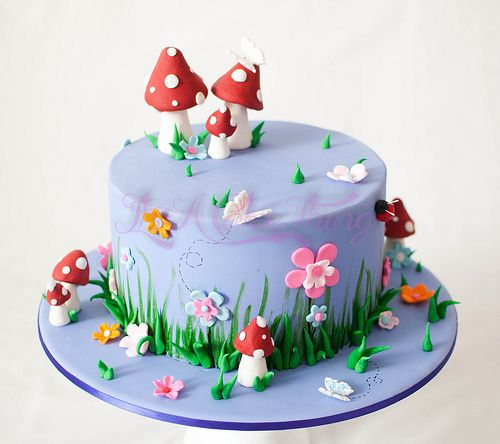Remarkable Fairy Themed Cake With Images Fairy Birthday Cake Fairy Cakes Personalised Birthday Cards Sponlily Jamesorg