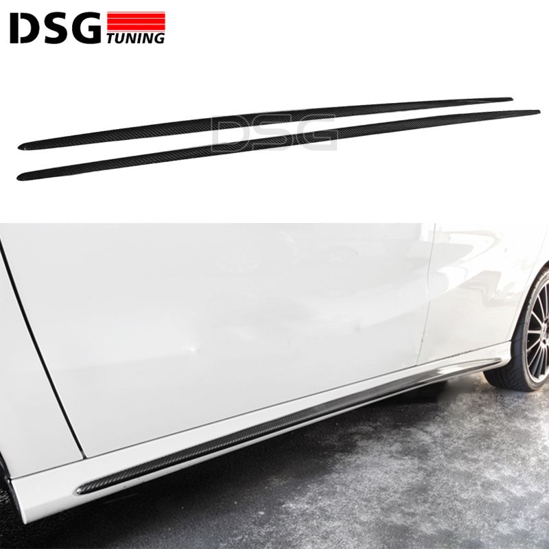 Carbon Fiber Side Skirt Bumper Lip For Mercedes W176 A45 & W176 CLA45 Sport Editon A180 CLA 200 with AMG pacakge. Yesterday's price: US $345.60 (283.88 EUR). Today's price: US $262.66 (213.83 EUR). Discount: 24%.