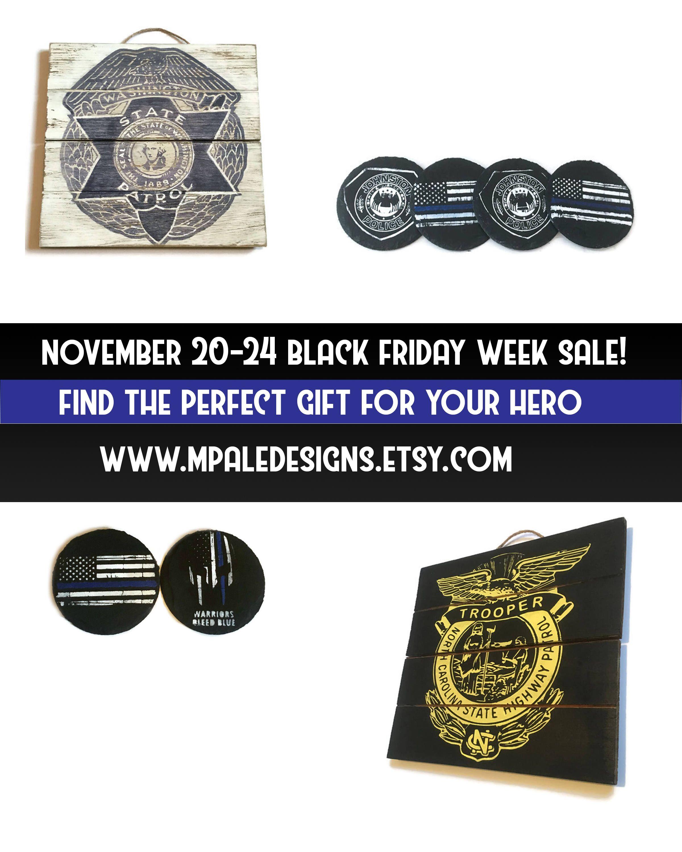 Create A Custom Police Gift For Your Hero. Thin Blue Line Flag Custom Decor,