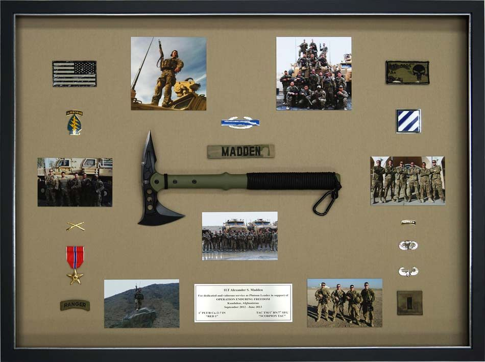 Looking for a military shadow box? Building custom military shadow boxes is a specialty we provide as part of our custom picture framing business & The uniqueness of this design is based on the decision to top ... Aboutintivar.Com