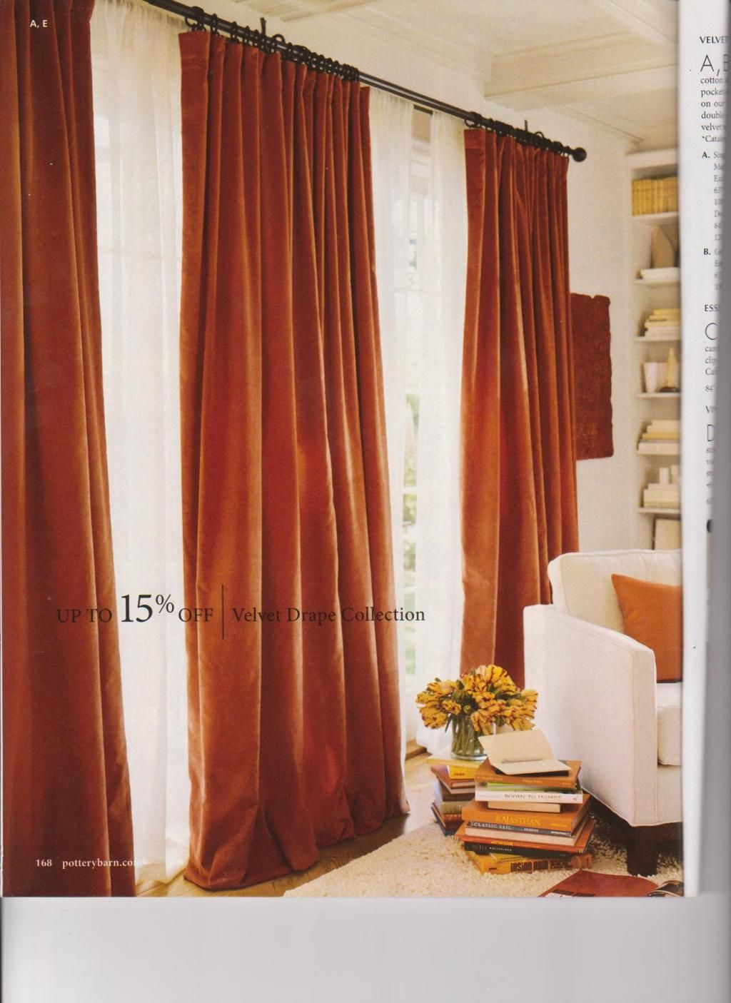 Pottery Barn Offers This Great Velvet Drape In A Color They Call